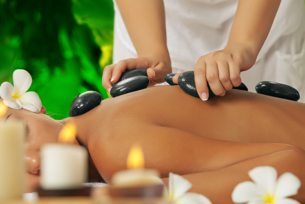 A hot stone massage works wonders on a cold body!